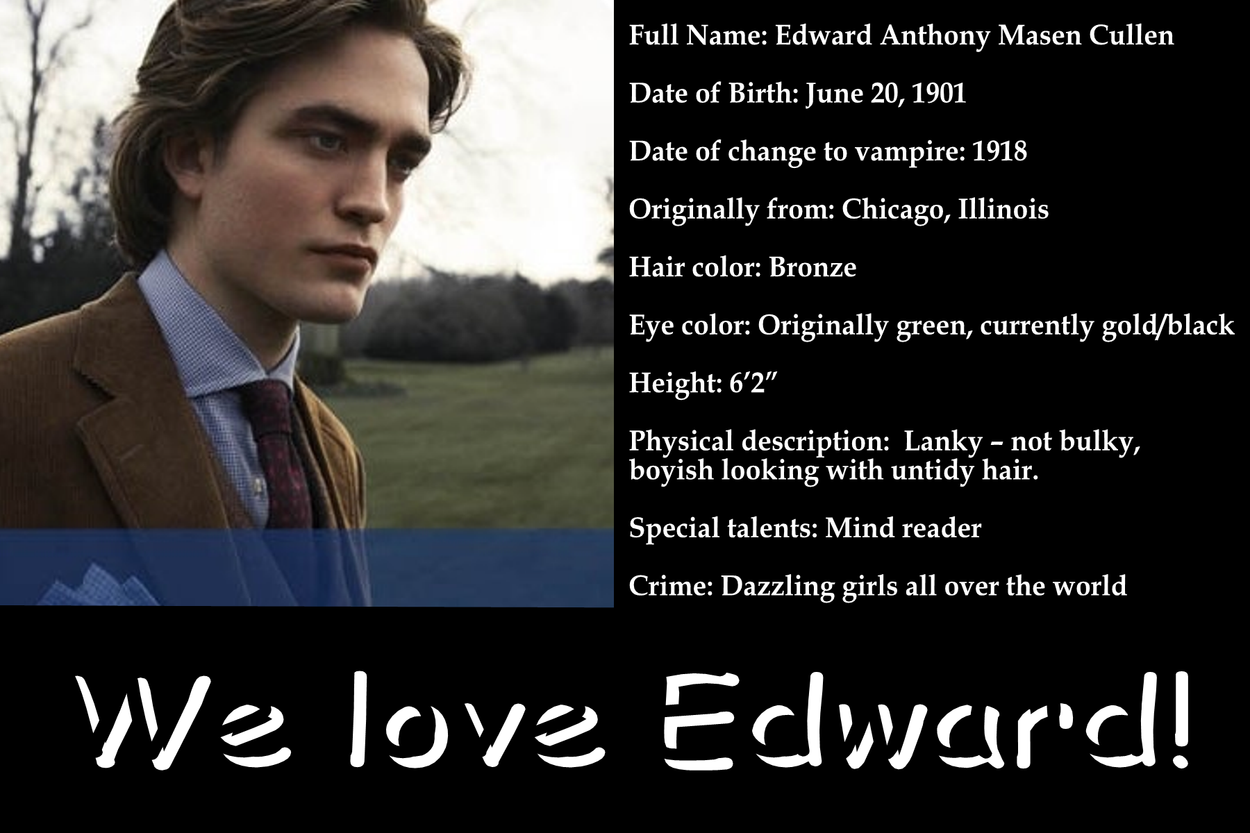 Team Edward vs Team Jacob Poll Results Team Edward And Team Jacob
