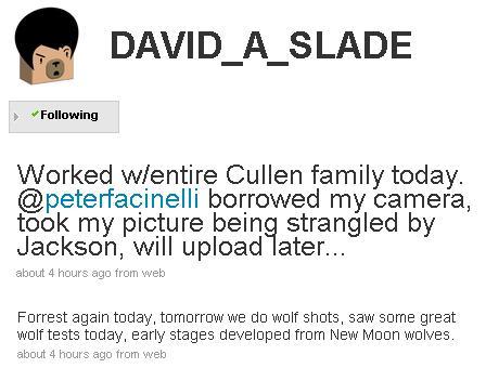 david slade tweet 09.15.09