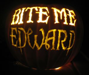 edward bite me pumpkin