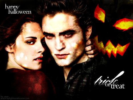 halloween trick or treat bella and edward