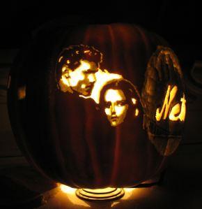 new moon jacob bella pumpkin'