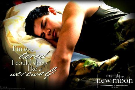 sleep like a werewolf