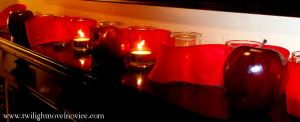 candles and apples